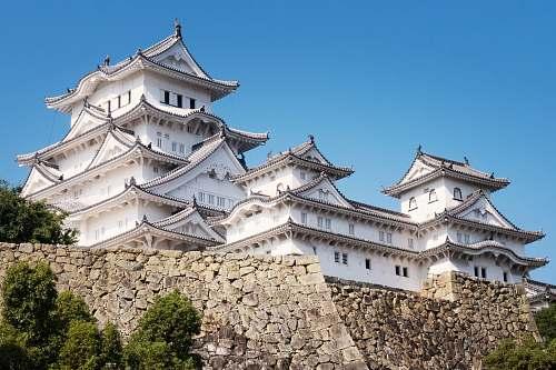 building Himeji Castle, Japan monastery