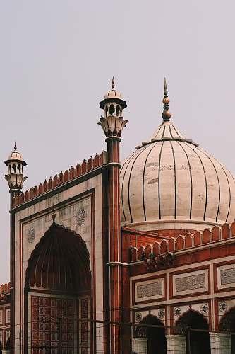 building Jama Masjid, Delhi during daytime dome