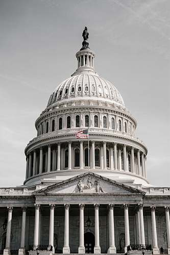 building low-angle photography of a U.S. Capitol dome