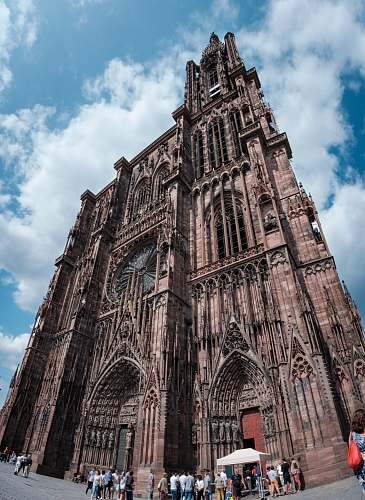 photo building low-angle photography of gothic cathedral tower free for commercial use images