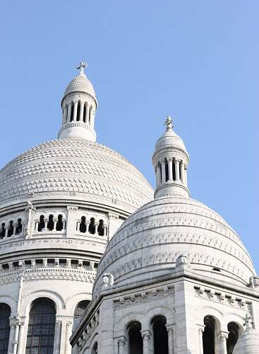 building low-angle photography of white dome cathedral dome