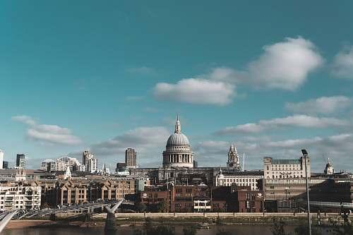 building Millennium Bridge, London during daytime dome
