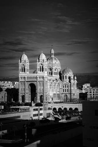 building monochrome photography of building black-and-white
