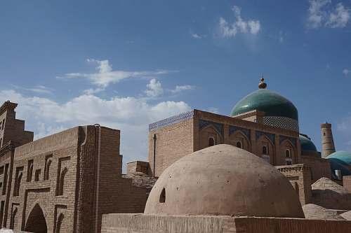building mosque under blue sky dome