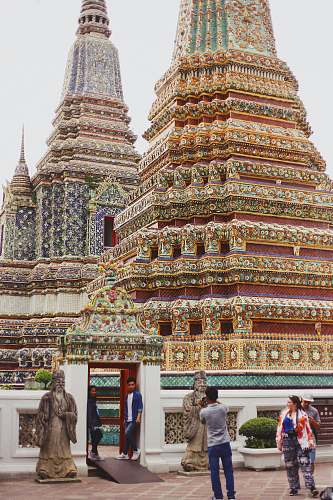 temple multi-colored shrine during daytime human