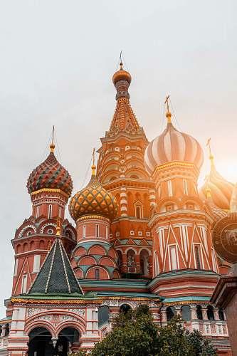 building multicolored dome castle dome