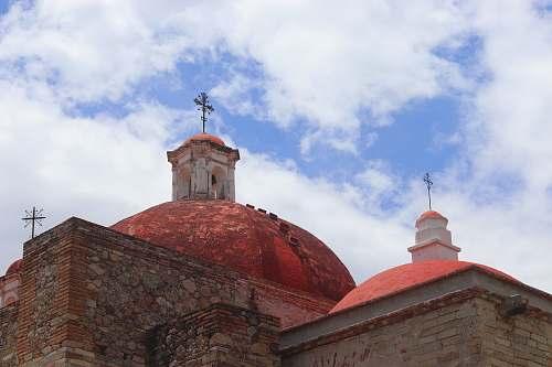 building orange and brown concrete dome church dome