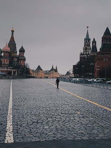path people walking on road walkway