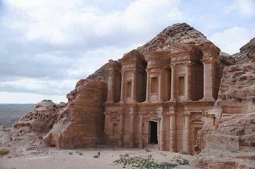 building Petra Jordan during daytime monastery