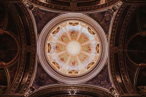 building round white and brown decor apse