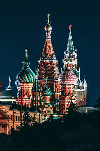 building Saint Basil Cathedral, Russia tower