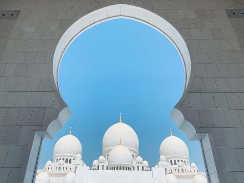 building Sheikh Zayed Mosque dome