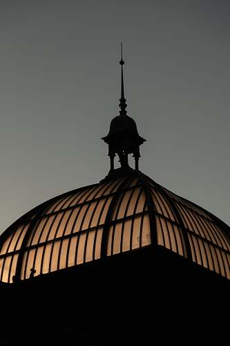building silhouette of building roof dome