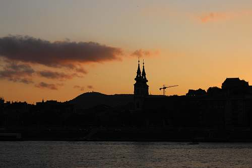 building silhouette of cathedral spire