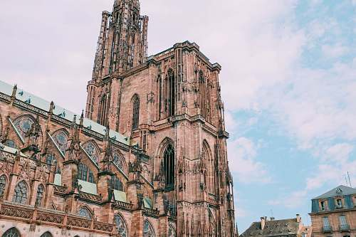 building Strasbourg Cathedral, France cathedral