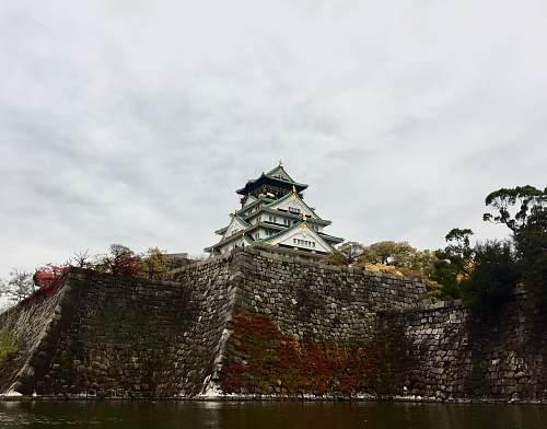 building temple in front of calm body of water castle