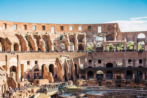 building The Colosseum, Rome housing