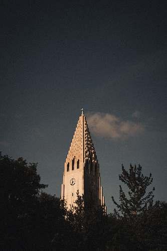building tower clock spire