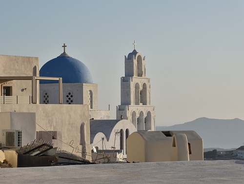 building white and blue concrete church building mosque