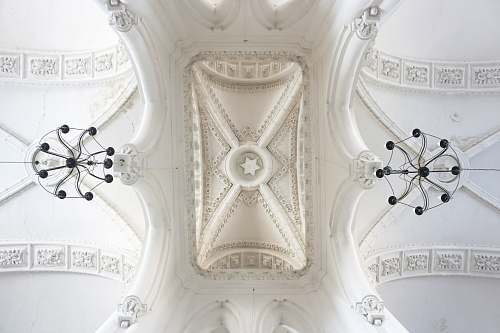 building white decorative ceiling arch