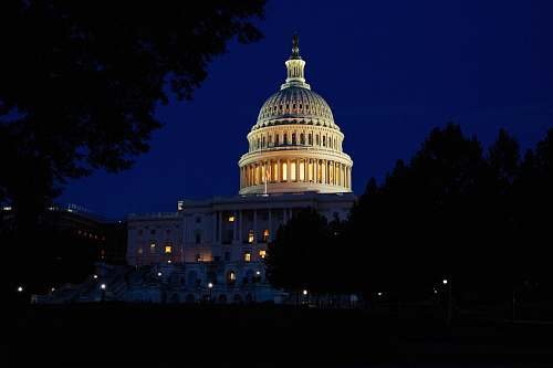 building White House under clear sky at night dome