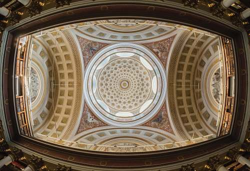 photo building worm eye view of artwork ceiling apse free for commercial use images