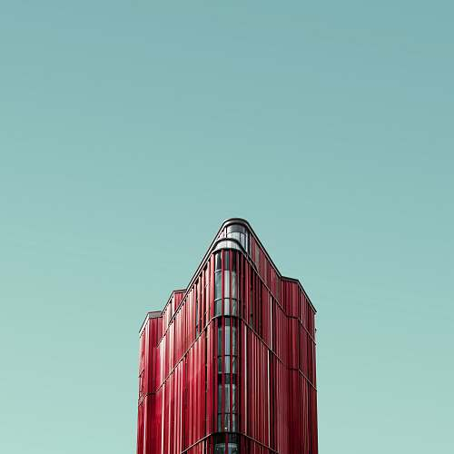 london worm's eye view photography of red glass building oxford street