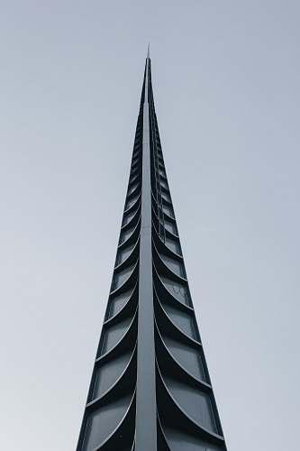 architecture black concrete building spire