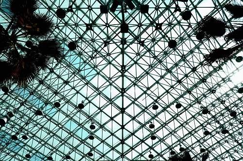 architecture black fence window