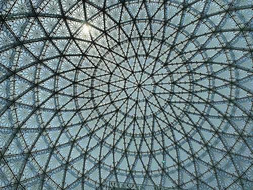 architecture floral glass dome grey