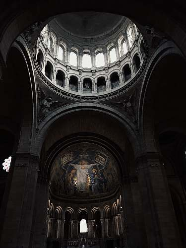 architecture gray arch building apse