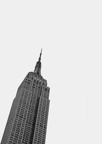 architecture gray concrete building black-and-white