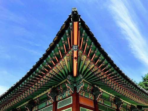 architecture green building roff pagoda