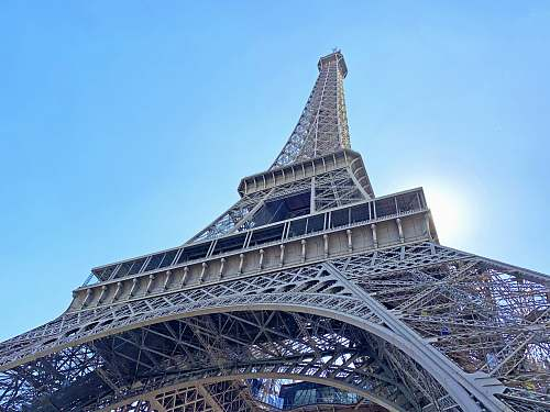 architecture macro photography of Eiffel Tower in Paris, France during daytime tower