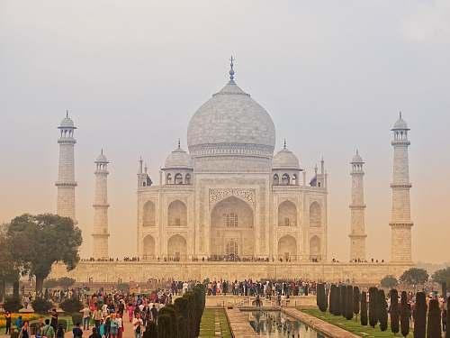 dome people at Taj Mahal, India architecture