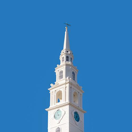 architecture photo of white painted catedral tower
