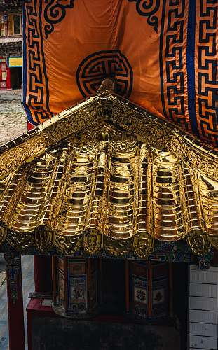 architecture view of gold roof temple