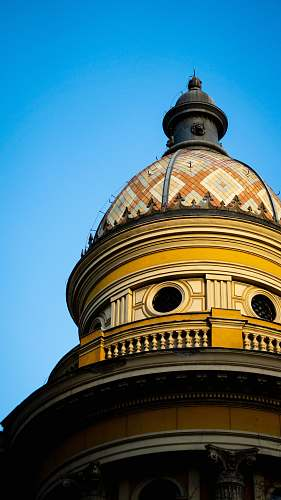 dome yellow and brown dome building architecture