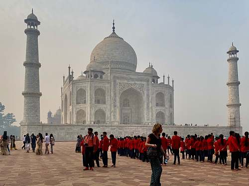 building Taj Mahal, India architecture