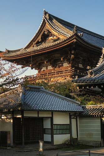 photo temple brown wooden building during daytime shrine free for commercial use images