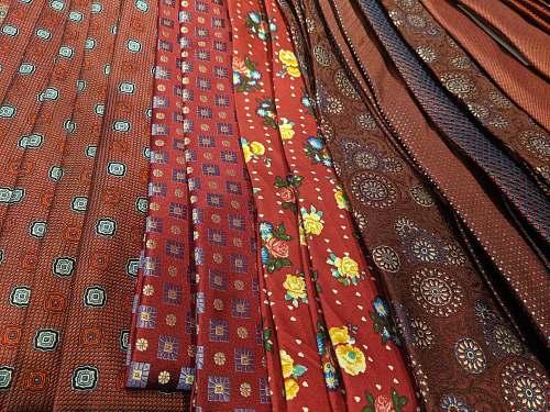 tie multicolored textiles accessory