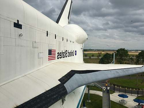 airplane white United States space shuttle transportation