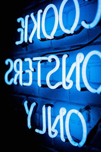 text Cookie Monsters Only neon signage light neon