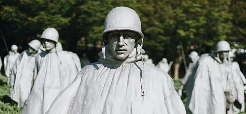clothing soldier statue close-up photography helmet