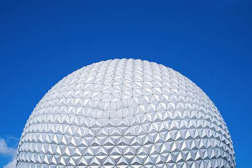 building white round ball under blue sky during daytime dome