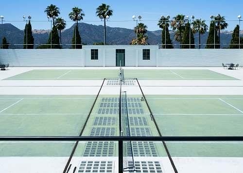 flora tennis court 3D illustration tennis court
