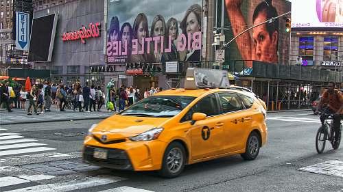 car yellow taxi transportation