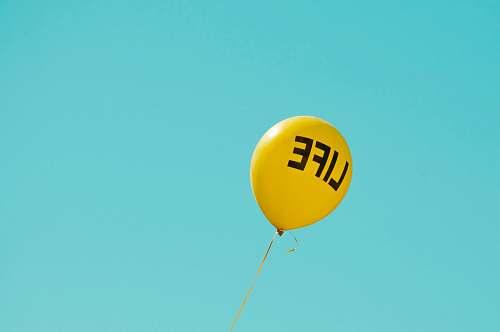 ball yellow life-printed balloon richmond