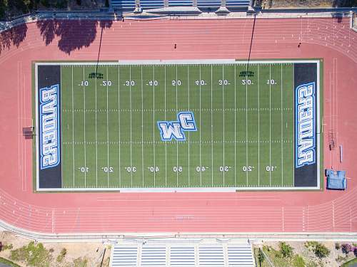 scoreboard aerial photography of football field moorpark coll