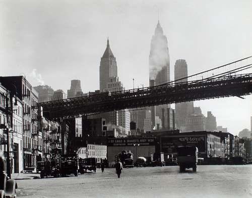 building black metal bridge city